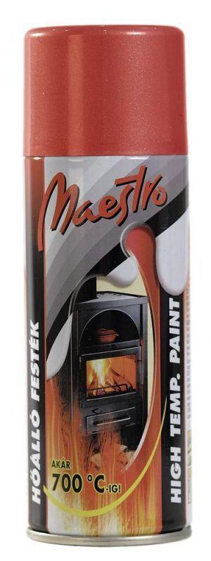 Maestro hőálló spray festék 700C fokig vörös RAL 3009