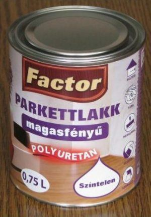 Factor parketta lakk aqua magasfényű (0.75 l)