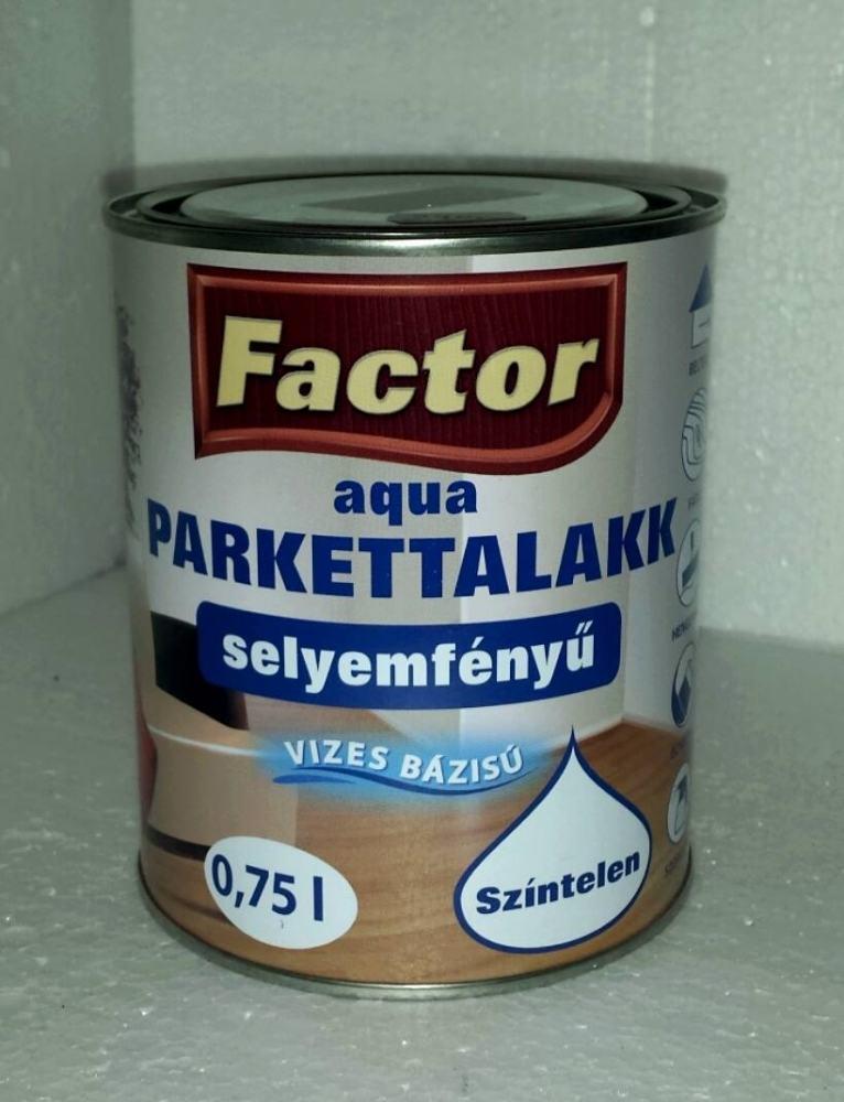 Factor parketta lakk aqua selyemfényű (0.75 l)