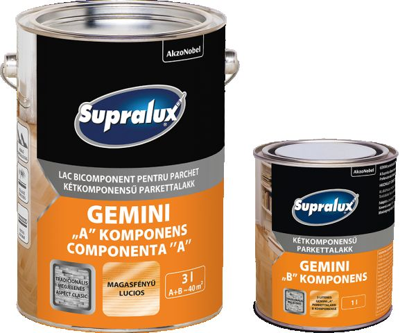 Supralux GEMINI 2 komponensű parkettalakk A+B