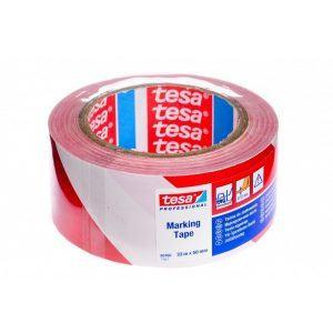 TESA jelölőszalag piros/fehér (33 m)