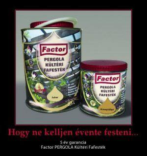 FACTOR PERGOLA KÜLTÉRI FAFESTÉK – 0,75 L