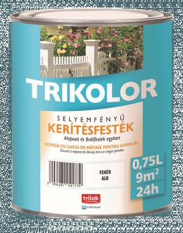 TRIKOLOR SELYEMFÉNYŰ KERÍTÉSFESTÉK (0,75 L)