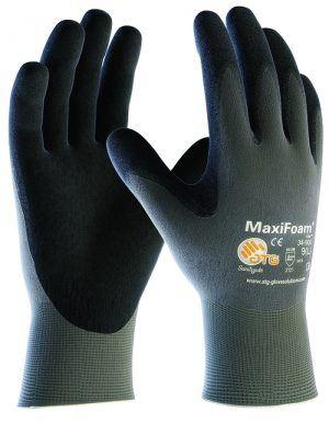 ATG 34-900 MAXIFOAM tenyér mártott kesztyű, nitril hab nylon béléssen